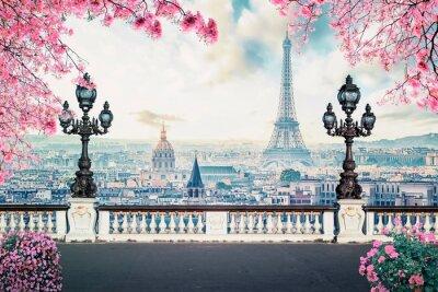 Plakat Romantic Paris City at spring