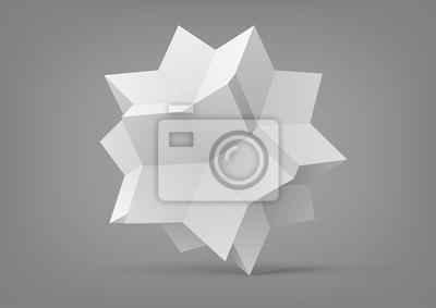 Plakat rombowy hexecontahedron do projektowania graficznego