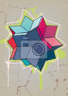 Rombowy hexecontahedron z ręcznie rysowane wylęgu
