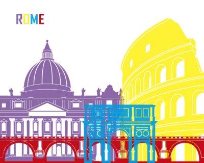 Plakat Rome skyline pop