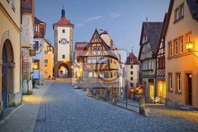 Plakat Rothenburg ob der Tauber.
