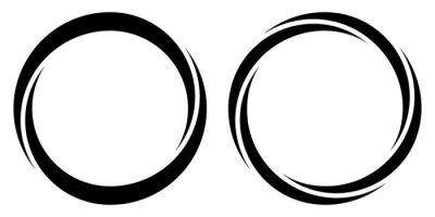 Plakat Round circular banner frames, borders, vector hand drawn, circular markers highlighting text