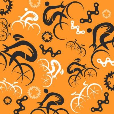 Plakat Rowerem dekoracyjne tło