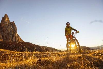 Plakat rowerzystów górskich