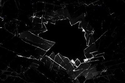Plakat rozbite szkło na czarnym tle