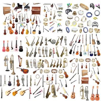 Plakat Różne instrumenty muzyczne