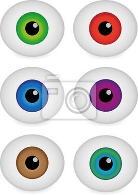 Plakat Różne kulki Kolor oczu, ilustracji wektorowych