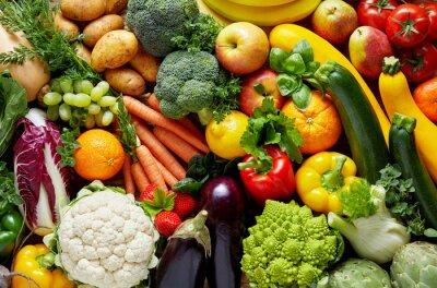 Plakat Różne owoce i warzywa