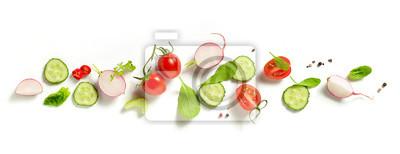 Plakat różne świeże warzywa