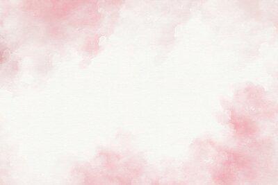 Plakat Różowa akwarela abstrakcyjne tło.