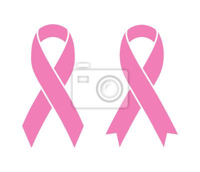 Plakat Różowe wstążki na białym raka piersi (znaku). ilustracji wektorowych.