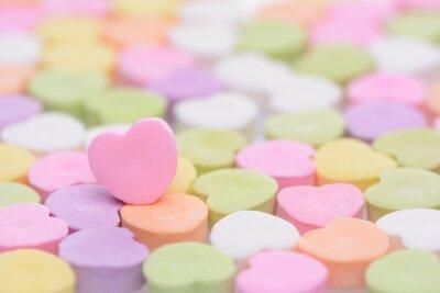Plakat Różowy Cndy Serce