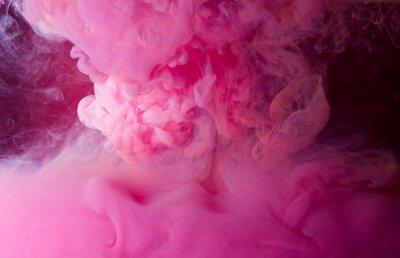 Plakat różowy dym