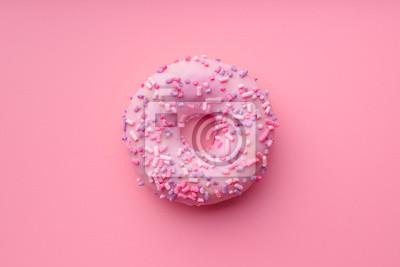Plakat Różowy słodki pączek.
