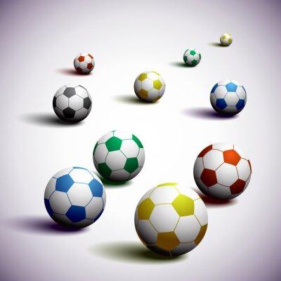 Plakat RPA Soccer Balls Background