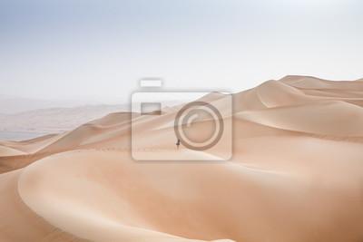 Plakat Rub al Khali Desert w pustej dzielnicy, w Abu Dhabi, Zjednoczone Emiraty Arabskie