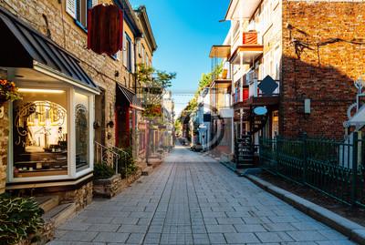 Plakat Rue du Petit Champlain at Lower Town (Basse-Ville) in Old Quebec City, Quebec, Canada