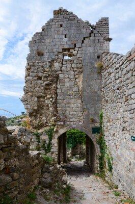 Plakat Ruiny kościoła św Katarzyny, Old Bar, Czarnogóra