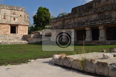 Ruiny pałacu w Majów Uxmal na Jukatanie
