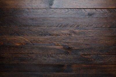Plakat Rustic drewniane tle widok z góry tabeli