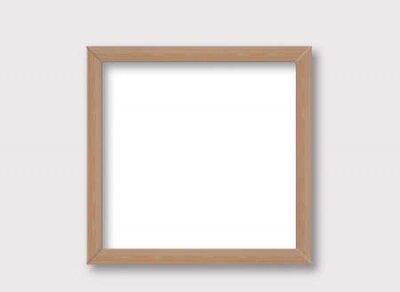 Plakat Rustic wooden frame mockup design