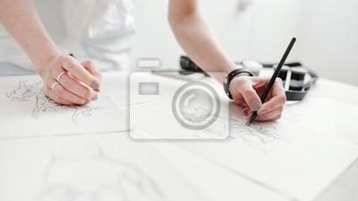 Plakat Rysunki szkicu rysunku