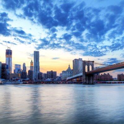 Plakat Rzeka Hudson i Manhattan, Nowy Jork.