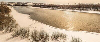 Plakat Rzeka w zimie