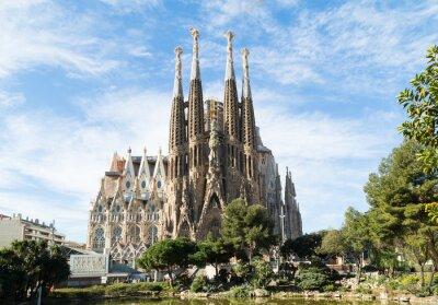 Plakat Sagrada Familia w Barcelonie, Hiszpania