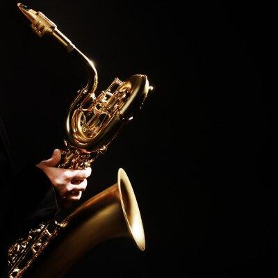 Plakat Saksofon jazzowe Instrumenty Muzyczne