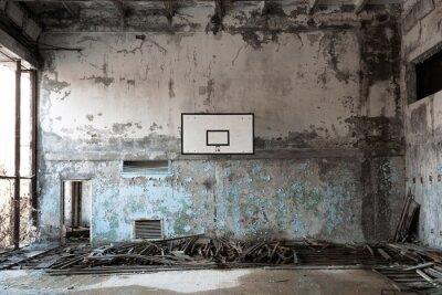 Plakat Sala balowa Basket w Czarnobylu