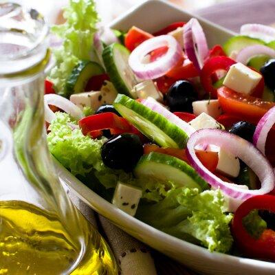 Plakat Sałatka grecka z oliwą z oliwek
