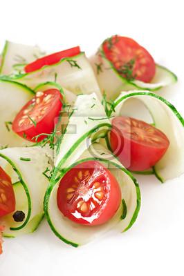 Sałatka z pomidorów i ogórków