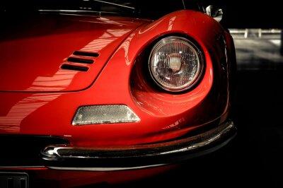 Plakat Samochód sportowy samochód klasyczny widok z przodu