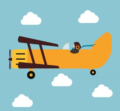 Plakat Samolot i podróże