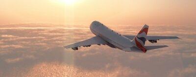Plakat Samolot komercyjny