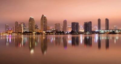 Plakat San Diego w Kalifornii Zachodnie Wybrzeże USA City Skyline