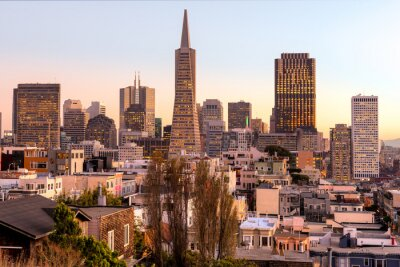 Plakat San Francisco, Kalifornia, USA.