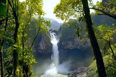 Plakat San Rafael Falls. Największy wodospad w Ekwadorze