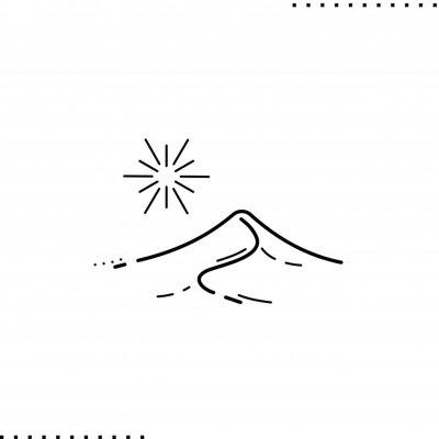 Plakat sand dune vector icon in outline