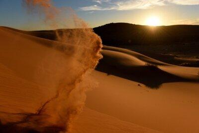 Plakat Sand Dunes In Desert Against Sky