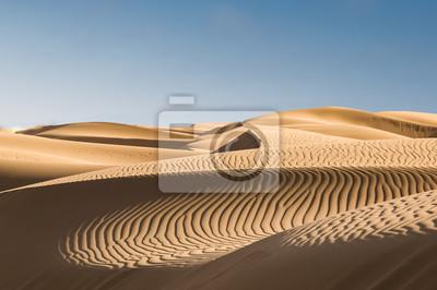 Plakat Sand dunes in the desert