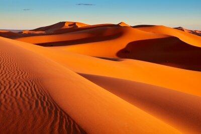 Plakat Sand dunes in the Sahara Desert, Merzouga, Morocco