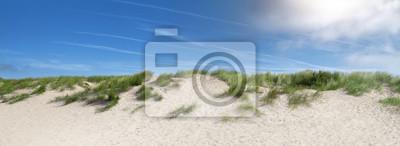 Plakat sand dunes near the beach in the summer