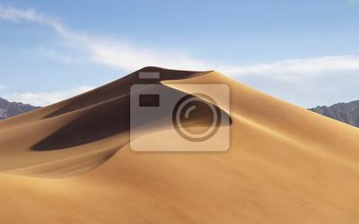 Plakat Sand Dunes On Desert Against Sky