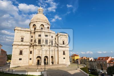 Plakat Santa Engracia Kościół lub Panteon Narodowy w Lizbonie, Portugalia