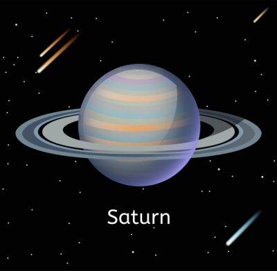 Plakat Saturn Planeta ilustracji 3d wektor