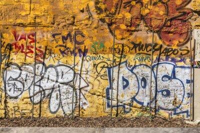 Plakat Ściany pokryte graffiti
