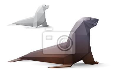 Seal stylizowane trójkąt modelu wielokąta