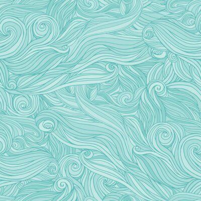 Plakat Seamless abstract pattern, tangle wavy hair background
